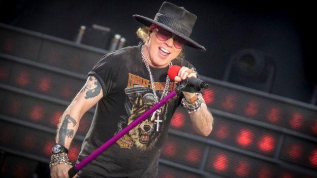 Axl Rose de Guns N Roses