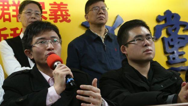 侯漢廷(左)與王炳忠(右)是新黨年輕一代中的敢言人物。