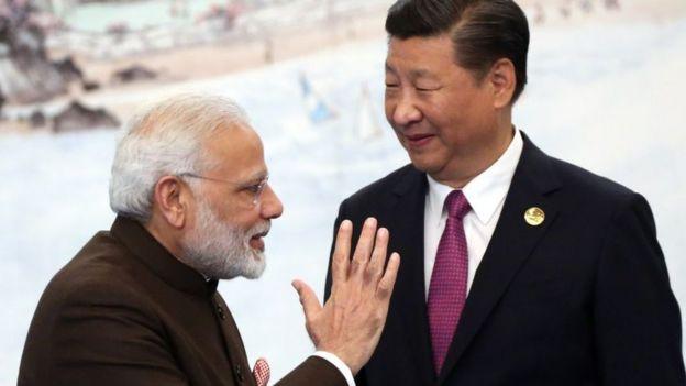 Modi y Xi Jinping.