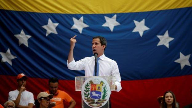 Juan Guaidó en discurso