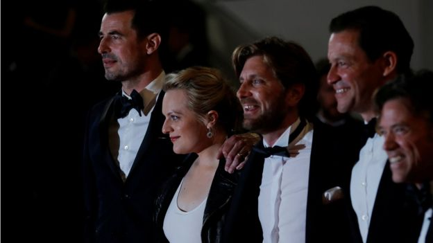 The director and stars of The Square