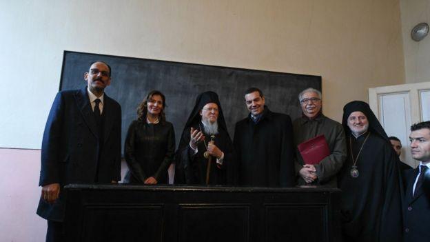 İbrahim Kalın, Patrik ve Tsipras Ruhban Okulu'nda