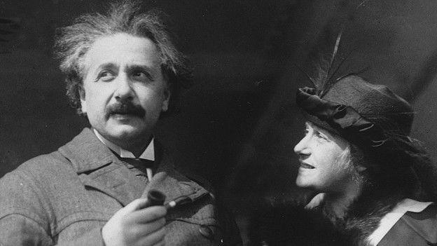 Einstein e sua esposa Elsa