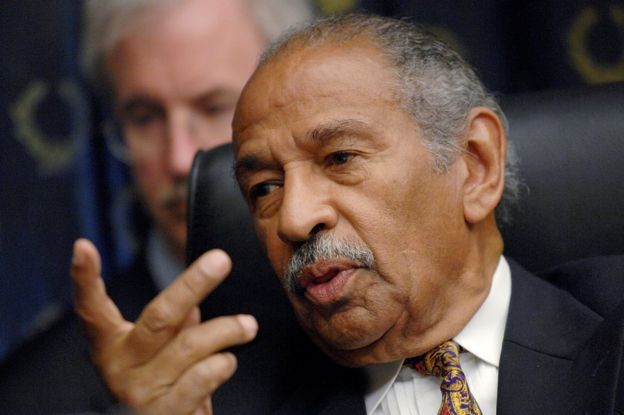"John Conyers (D-MI) holds a House Judiciary Committee hearing on the George W. Bush presidency, called ""Executive Power and Its Constitutional Limitation"", on Capitol Hill in Washington, July 25, 2008"