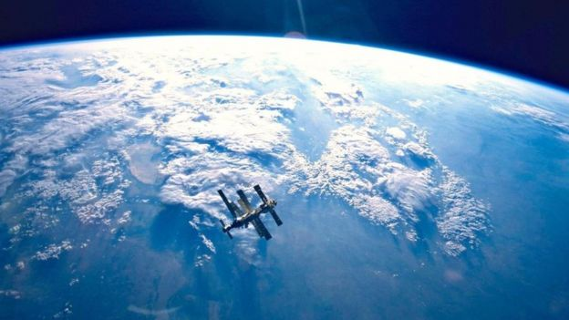 La estación espacial Mir antes de estrellarse en el Pacífico