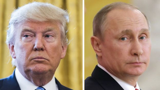 ABD Başkanı Donald Trump (solda) ve Rusya Devlet Başkanı Vladimir Putin
