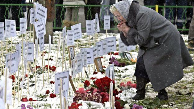 Таблички с именами погибших
