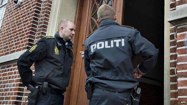 Danish police in Aarhus