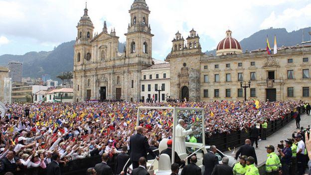 El papa Francisco en Bogotá