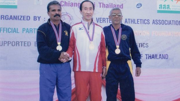 Record holding Sri Lankan senior sprinter Tilsen Wijey