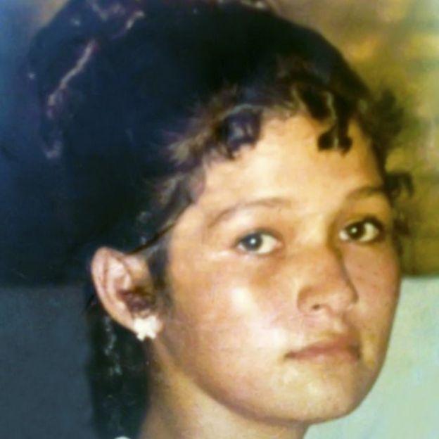 Foto de Virgínia aos 15 anos