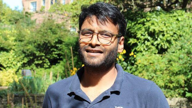 Rajesh Bhagat, estudante