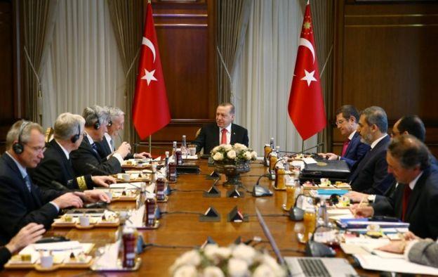 Erdoğan Mattis görüşmesi