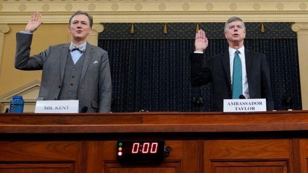George Kent e Bill Taylor participaram da primeira audiência pública do processo de impeachment de Trump