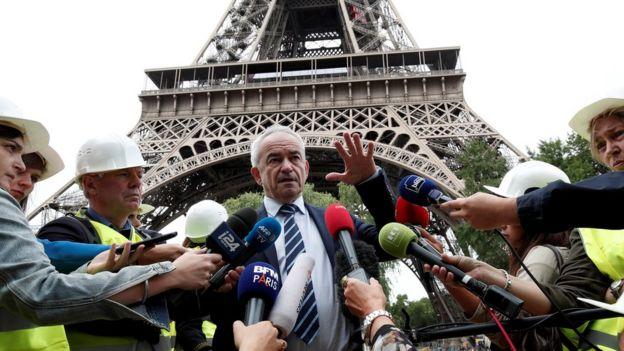 Bernard Gaudillère, president of the Société d'Exploitation de la Tour Eiffel (SETE)