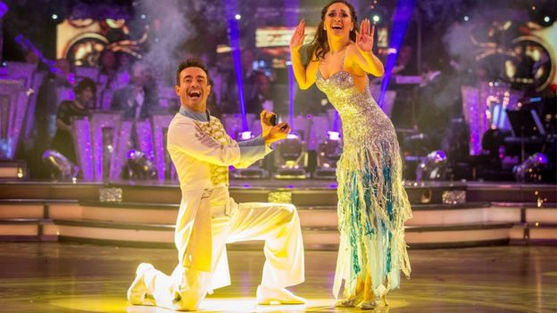 Joe McFadden and his partner Katya Jones