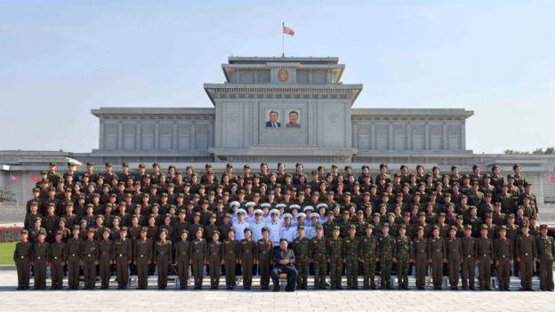 Foto de parada militar