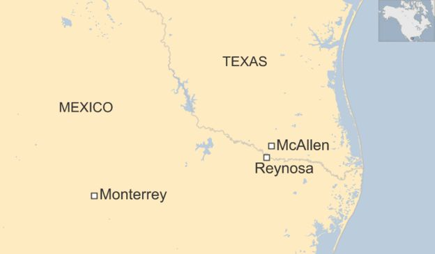 The Untold Story Of The TexasMexico Border BBC News - Map of mexico and us