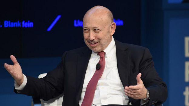 Lloyd Blankfein, director ejecutivo de Goldman Sachs
