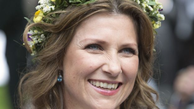 Princess Martha Louise of Norway attends a garden party at the Royal Residence, Stiftsgarden, on 23 June 2019.