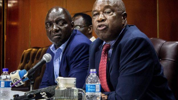 War veterans leaders Douglas Mahiya and Christopher Mutsvangwa - 17 November
