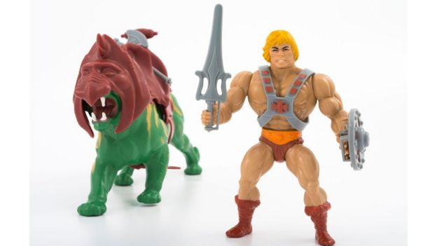Battlecat and He-man figurines