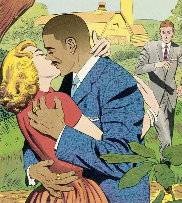 Caricatura de un hombre sintiendo celos.