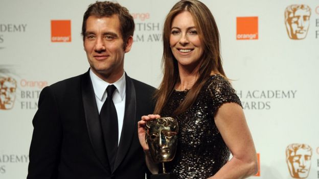 Kathryn Bigelow with Clive Owen at the 2010 Bafta Film Awards