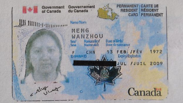 Visa permanente de Meng Wanzhou