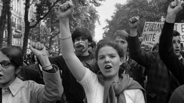 Protesta del mayo francés.