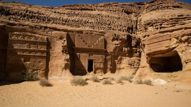 Nabataean rock tombs in Madain Saleh