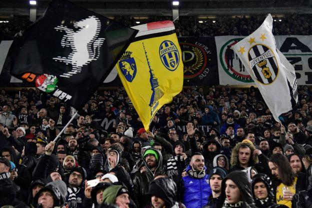Afición de la Juventus.