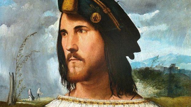 """César Borgia (pintado por Altobello Melone (c. 1490-1491 - 1543), un gobernante exitoso, según """"El príncipe""""."""