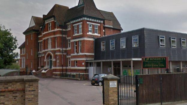 St Benedict's School in Ealing, west London.