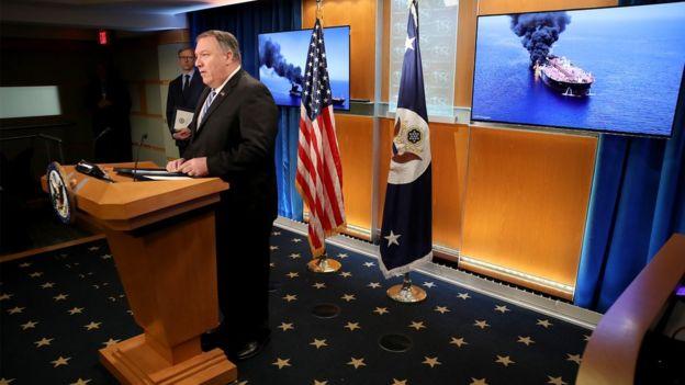 در آخرین دور تنش میان دو کشور، وزیر خارجه آمریکا به سرعت ایران را به دست داشتن در حمله به نفتکشهای دریای عمان متهم کرد