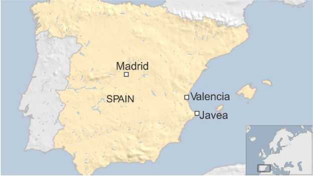 Javea Spain Map.Spain Forest Fires Force Evacuation Of Residents And Tourists Bbc News