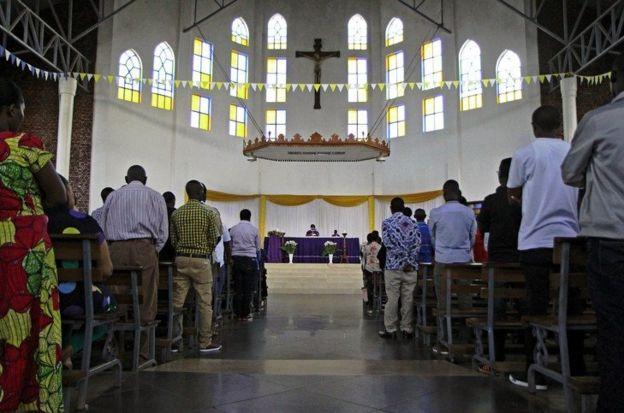 Un lieu de culte au Rwanda