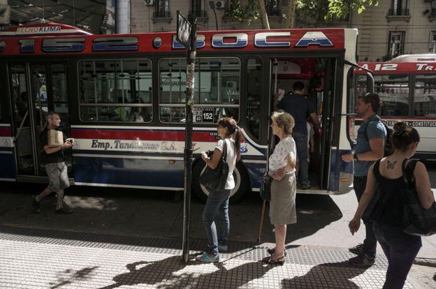 Autobús urbano en Buenos Aires