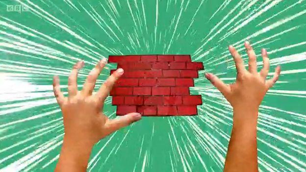 Ilustração de pessoa caindo vendo o chão de tijolos se aproximando