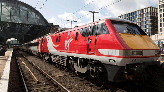 Virgin train at Kings Cross