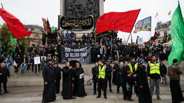 Manifestation in London against EI.