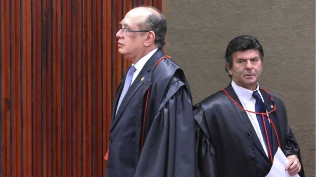 Os ministros Gilmar Mendes e Luiz Fux