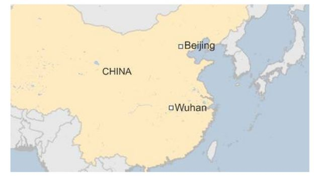 China flooding wuhan on red alert for further rain bbc news map of wuhan line break gumiabroncs Image collections