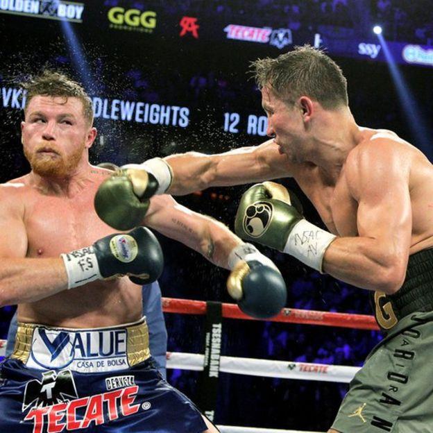 Canelo y GGG en la primera pelea.