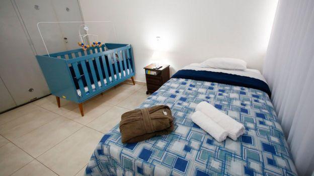 Centro de acogida de repatriados en Brasil.