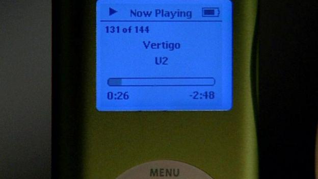 Un reproductor de MP3 de LG