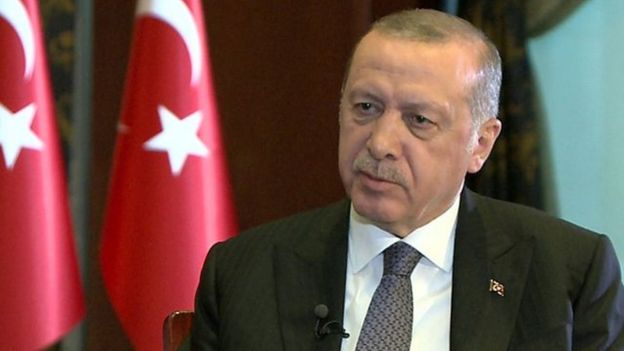 Madaxweynaha Turkiga Recep Tayyip Erdogan