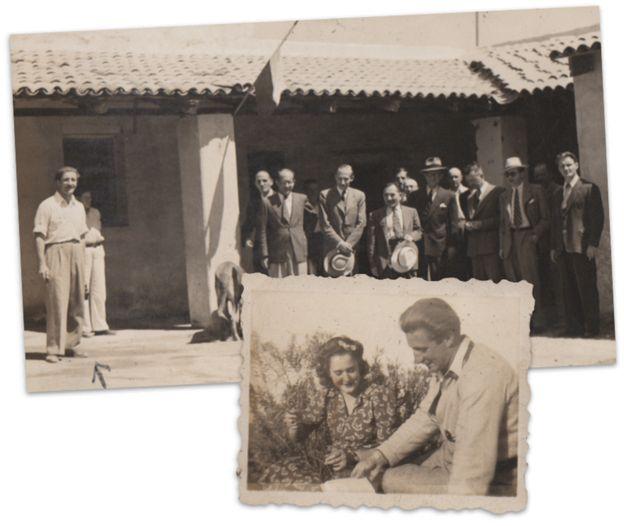 Rattinger mostrando la finca Santa Rosa