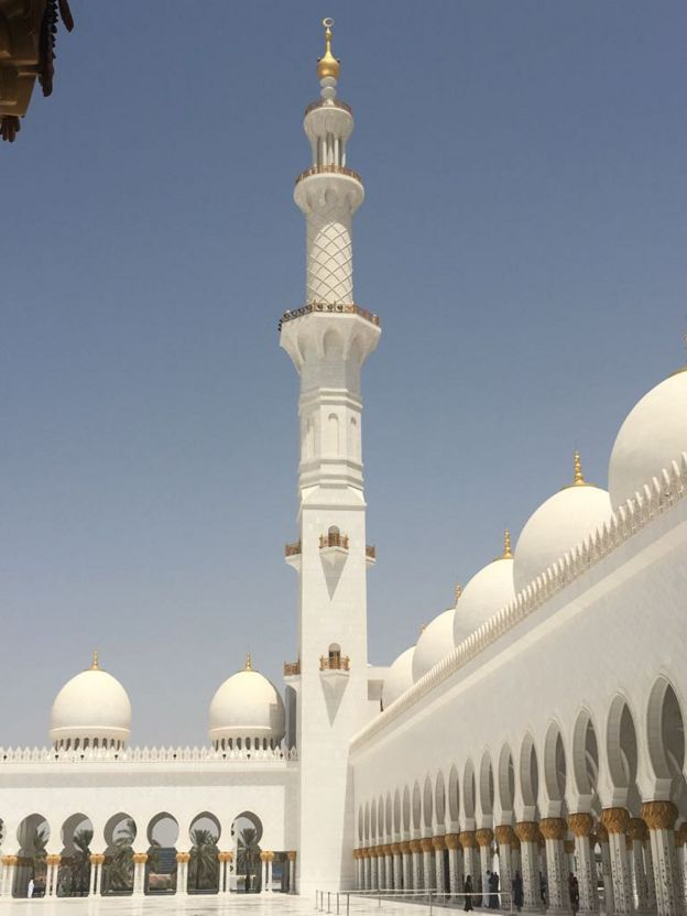 The Sheikh Zayed Grand Mosque, Abu Dhabi, United Arab Emirates