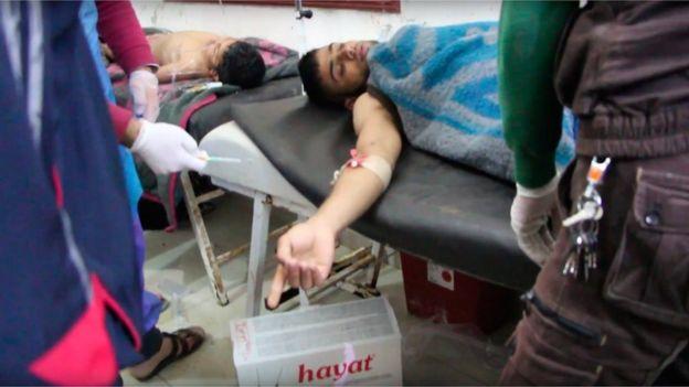 Heridos atendidos en Khan Shiekhoun